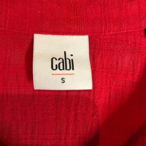 CAbi Dresses - CAbi Red Hibiscus Tunic Dress Size Small